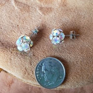 Sparkling jeweled ball studs